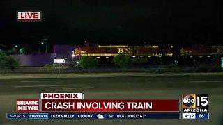 Crash involving train in Phoenix