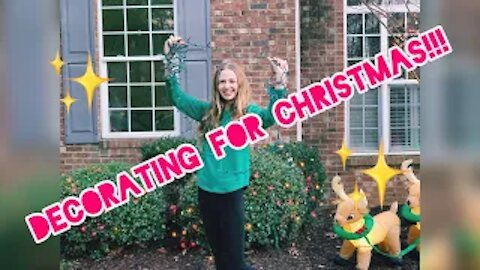 Decorating my house for Christmas!!! + Shopping trip! Gabby's Gallery