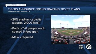 Tigers announce Spring Training changes