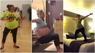 Disse gravide kvinnene kan virkelig danse!