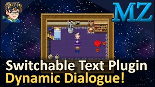 Switchable Text Plugin for Dynamic Dialogue! RPG Maker MZ