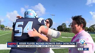 Keiser promotes early detection in breast cancer