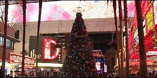 Christmas tree at Fremont Street