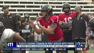 Flacco leading Towson in first year with program