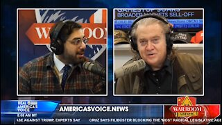 """Steve Bannon and Raheem Kassam on """"financial stop the steal"""""""