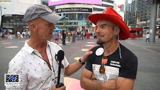 Michael Krisa speaks with Jason Estey at Dundas Square 08/29/21