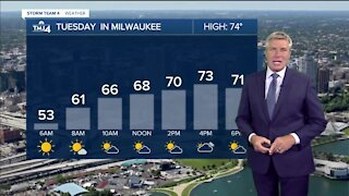 Temps in the 70s with low humidity Tuesday