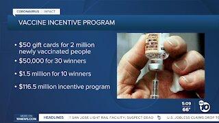 CA launches vaccine incentive program