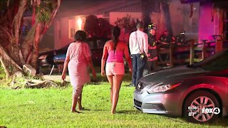 Three people escape home fire in Fort Myers