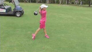 Bambina di sei anni è un prodigio del golf
