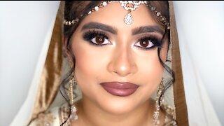 NIKKAH BRIDAL INSPIRED MAKEUP TUTORIAL   Creating asian bridal looks   ShahenaMUA