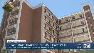 State officials backtrack on crisis care plan
