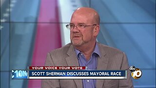 Mayoral candidate Scott Sherman speaks on election showing