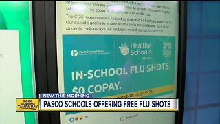 Pasco County Schools offer free flu shots to students, here's how to register