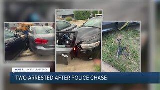 Men in stolen car tased after leading East Cleveland police on short pursuit