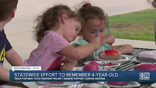 Rock painting project honors 4-year-old flood victim