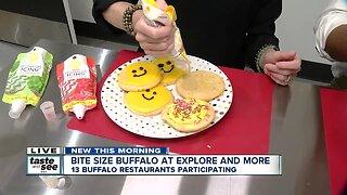 "A baker's dozen local restaurants serving ""bite-sized"" portions at Explore & More"