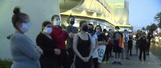 Protesters gather on Las Vegas Strip