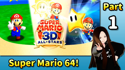 🇺🇸 🇯🇵 Vtuber Let's Play! - ⭐️ 🍝 Super Mario 64 (Part 01)