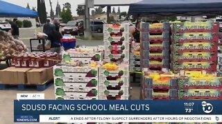 SDUSD facing school meal cuts