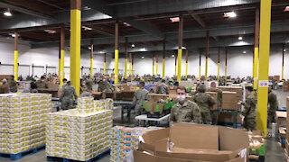 02/23/2020 Washington National Guard serves food banks