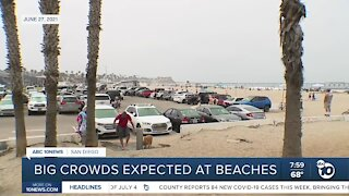 Big crowds expected at beaches