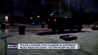 Police looking for gunman in apparent road rage incident.