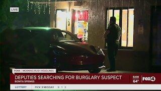 Burglary suspect investigation in Bonita Springs