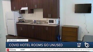 Hotel rooms in shelter program go unused