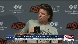 """Gundy on QB's: """"We might play two."""""""
