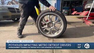 Potholes impacting metro Detroit drivers
