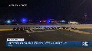 Troppers open fire following pursuit
