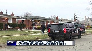 68-year-old woman found dead in Warren, grandson arrested in Ohio