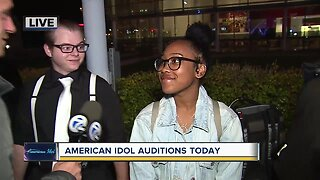 American Idol auditions today in Detroit
