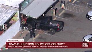 Apache Junction police officer shot