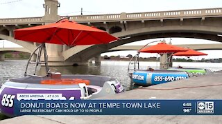 You can now cruise along Tempe Town Lake in a 10-person 'donut boat'
