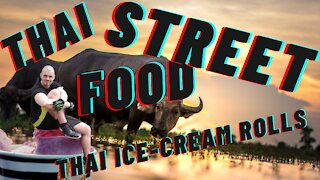 Thai Street Food : Thai Ice-cream rolls : How to make Thai Ice-cream rolls