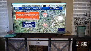 Weekend road closures across the valley due to construction