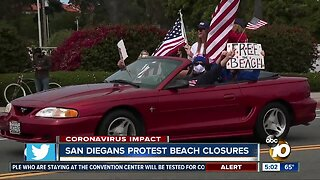 San Diego County residents protest beach closures