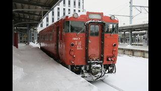 South Hokkaido Diesel car departing the station