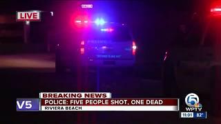 Woman killed, 5 men hurt in Riviera Beach shooting