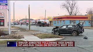 Driver arrested following high-speed hit-and-run crash on Detroit's west side