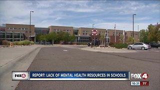 Report: Lack of mental health staff in schools