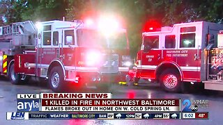 Early morning house fire in Park Heights leaves one dead and two injured