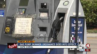 Gas pump skimmer ordinance goes into effect