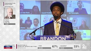 Brandon Scott declares victory in Baltimore City mayoral race