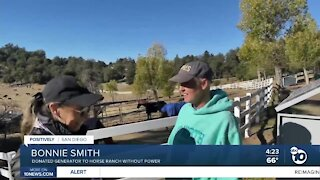 Couple donates generator to ranch