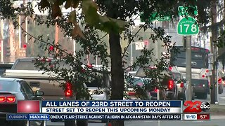 Officials say all lanes on 23rd Street expected to reopen next week