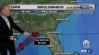 Nestor now a tropical storm