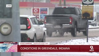 Road conditions in SE Indiana changing rapidly as snow storm moves in